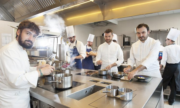 Chef Enrico Bartolini and Staff at Mudec - Milan