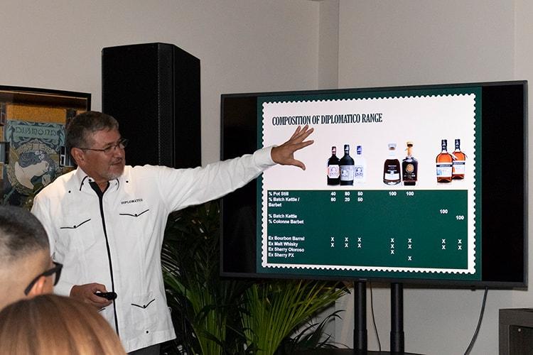 ShowRum - Vertical Tasting Rum Diplomàtico: Mastro Ronero Nelson Hernandez