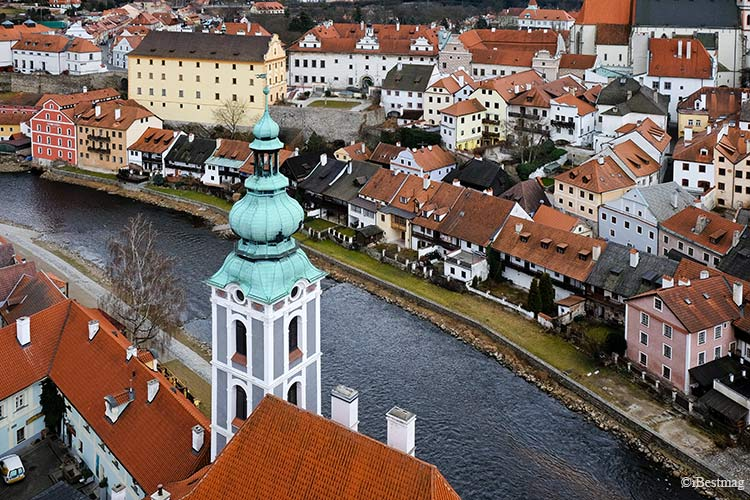 cesky krumlov view from the castle tower by ibestmag